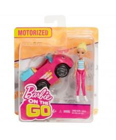 Barbie On The Go baba járművel - rózsaszín kabrió FHV76