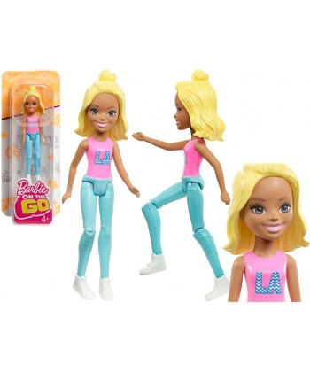 Barbie On The Go baba - Szőke hajú kontyos Barbie FHV55