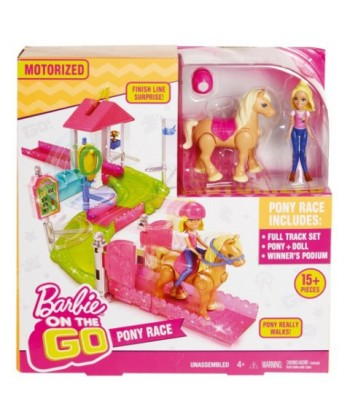Barbie on the go: póniverseny pályaszett FHV66