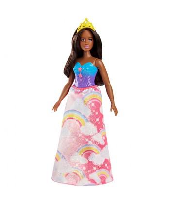 Barbie Dreamtopia hercegnő baba szivárványos ruhában FJC94