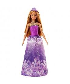 Barbie Dreamtopia hercegnő baba lila ruhában FJC94
