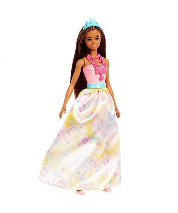 Barbie Dreamtopia hercegnő baba cukorkás ruhában FJC94
