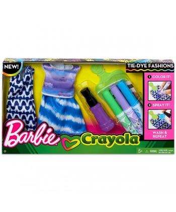 Barbie Crayola: Ruhafestő készlet - lila FPW12