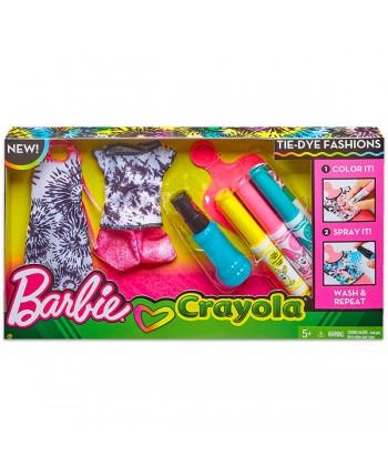 Barbie Crayola: Ruhafestő készlet - rózsaszín FPW12