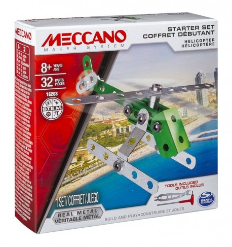 Meccano: Helikopter fém építő kezdőszett 6026713