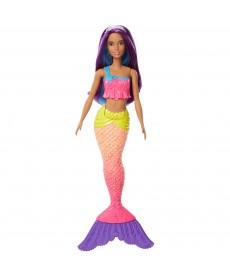Barbie Dreamtopia sellő baba lila hajjal FJC89