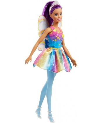 Barbie Dreamtopia: Lila hajú tündér baba FJC84