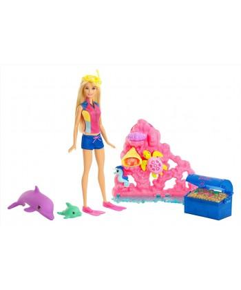 Barbie Delfin varázs kincskereső játékszett FCJ29