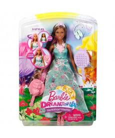 Barbie Dreamtopia Hajvarázs barna bőrű hercegnő baba DWH41
