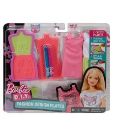 Barbie divattervező sablonok, cica és szív mintával DYV66