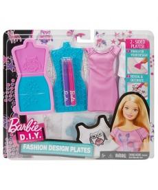 Barbie divattervező sablonok, bagoly és csillag mintával DYV66
