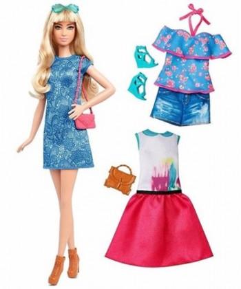 Barbie fashionistas  Barbie baba ruhákkal és kiegészítőkkel DTD96 42110dd5c5