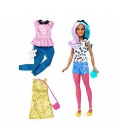 Barbie fashionistas: Barbie baba ruhákkal és kiegészítőkkel DTD96
