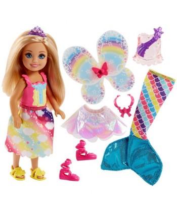 Barbie Dreamtopia: Chelsea szivárványos ruhában FJC99