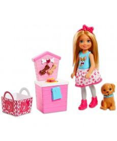 Barbie: Chelsea kiskutyájával játékszett FHP66