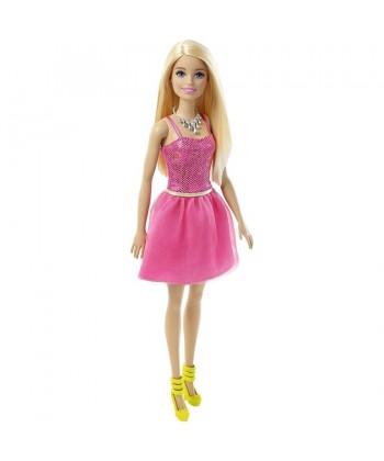 Barbie: Parti Barbie - csillogó pink ruhában T7580
