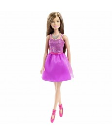 Barbie: Parti Barbie - csillogó lila ruhában T7580