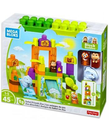 Mega Bloks: Barátságok a szafariban - 45 darabos építőkocka készlet FFG42
