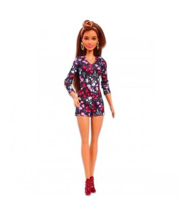 Barbie Fashionistas: latin baba virágos ruhában FBR37