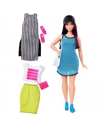 Barbie fashionistas: telt sötét hajú baba DTD96