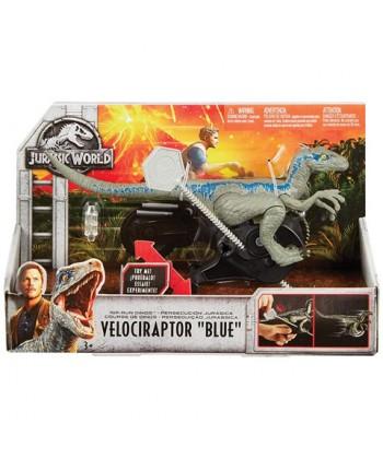 Jurassic World: Felhúzható Velociraptor kék dinoszaurusz FMM32