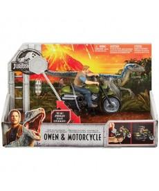 Jurassic World: Felhúzható Owen figura motorral FMM32
