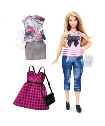 Barbie Fashionistas: Szőke hajú molett Barbie DTD96