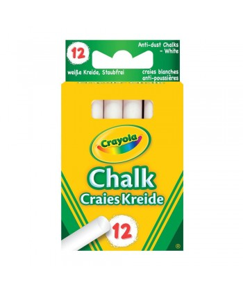 Crayola: Táblakréta fehér, 12 darabos 280