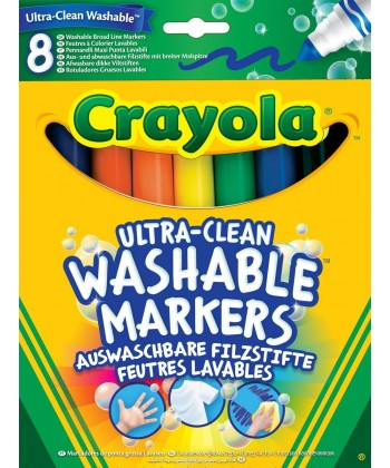 Crayola: Extra-lemosható vastag filctoll 8 darabos 588328