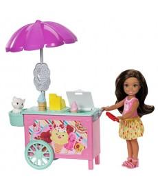 Barbie: Chelsea fagyis kocsi játékszett FDB32