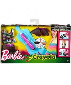 Barbie: Crayola szivárvány ruhakészítő szett FHW85