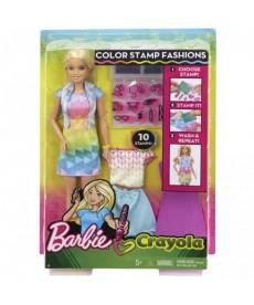 Barbie Crayola színes ruhanyomda FRP05