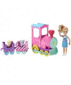 Barbie Chelsea baba járművel FRL86