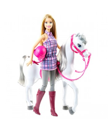Barbie Barbie baba és lovacskája szett DHB68