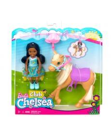 Barbie: Chelsea baba lóval FRL84