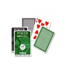Piatnik Póker Plasztik Kártya (Barna-Zöld) 136214