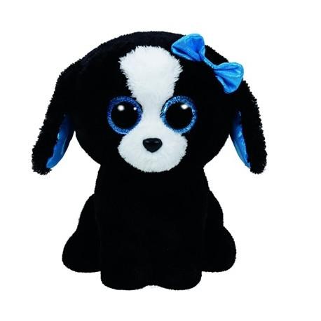 TY BOOS plüss figura TRACEY- 42 cm -fekete/fehér kutya TY36839