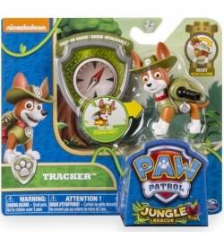 Mancs Őrjárat Átalakítható Tracker Kutyus Akciófigura Jelvénnyel (Zöld-Barna) 6022626