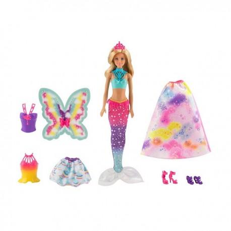 Barbie Dreamtopia: Átalakítható baba szett FJD08