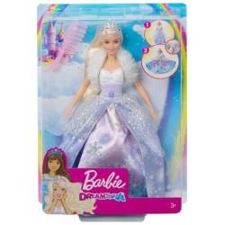 Barbie: Télhercegnő Baba Átalakítható Ruhával GKH26