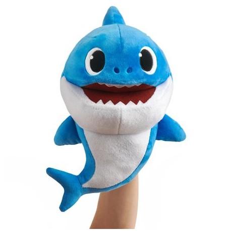 Smartplay Baby Shark cápa család ütemre zenélő plüss - Apa cápa