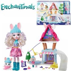 Enchantimals: Téli üdülő központ Bevy Bunny babával GJX50