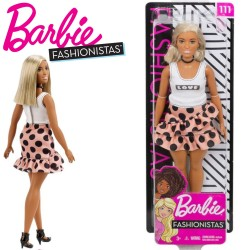 Barbie Fashionistas: Barbie pötyös szoknyában FBR37