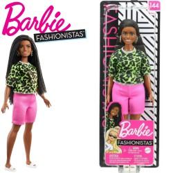 Barbie Fashionistas: Barna bőrű molett Barbie afrofonással FBR37