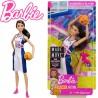 Sportoló Barbie: Barna hajú kosaras baba DVF68