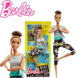 Barbie mozgásra tervezve: Hajlékony jógababa hosszú hajjal FTG80