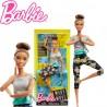 Barbie mozgásra tervezve: Hajlékony jógababa barna hajjal FTG82