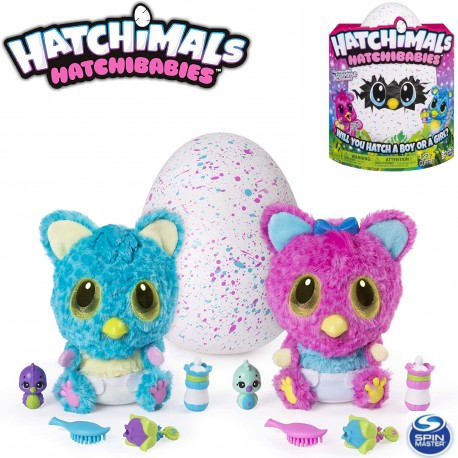 Hatchimals: Interaktív Hatchibabies plüss tojásban 6044072