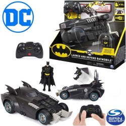 Spin Master DC Batman: Indíts és védekezz RC autó figurával és katapulttal 6055747