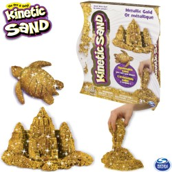 Spin Master Kinetic Sand: Arany metál színű homokgyurma  454 gramm 6026411